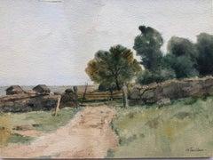 "John Henry Twachtman ""Gloucester"" Watercolor"