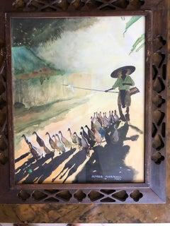 Vietnamese Village Scene