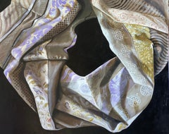 'Nina', Classic still life figurative oil painting on linen, 2020