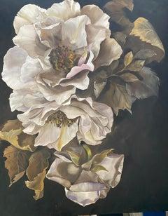'Tonight', Classic still life figurative oil painting on linen, 2020