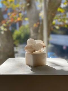 Pippi, Sculpture, Scaglione alabaster on an alabaster base, 2020, 13 x 10 x 12cm