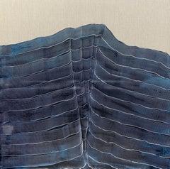 'Blue Strokes Over Blue' Maria Jose Benvenuto, unique contemporary painting