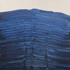 'Blue Ocean I' by Maria Jose Benvenuto, unique contemporary painting on linen