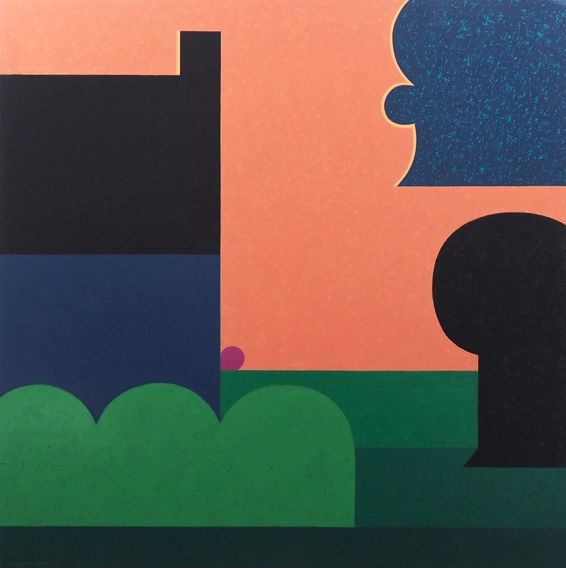 'The Bluestone House - Last Night', Contemporary landscape oil painting