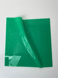 'Green Square with Fold Zone', Colourful contemporary sculpture
