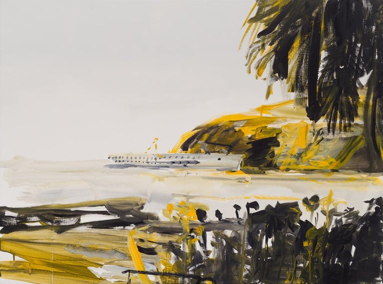 Michael Taylor Figurative Painting - 'The Golden One', Contemporary figurative landscape acrylic painting on canvas