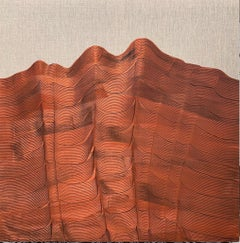 'Copper Mountain', Contemporary abstract landscape acrylic painting on linen