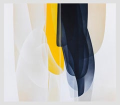 'Stillness Divide (diptych)', acrylic abstract contemporary painting on canvas