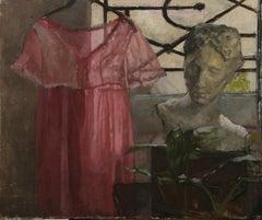 """Pink Dress"" 2020 Still life By Roni Taharlev"