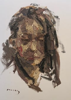 """PORTRAIT OF NINA"" Oil on Canvas"