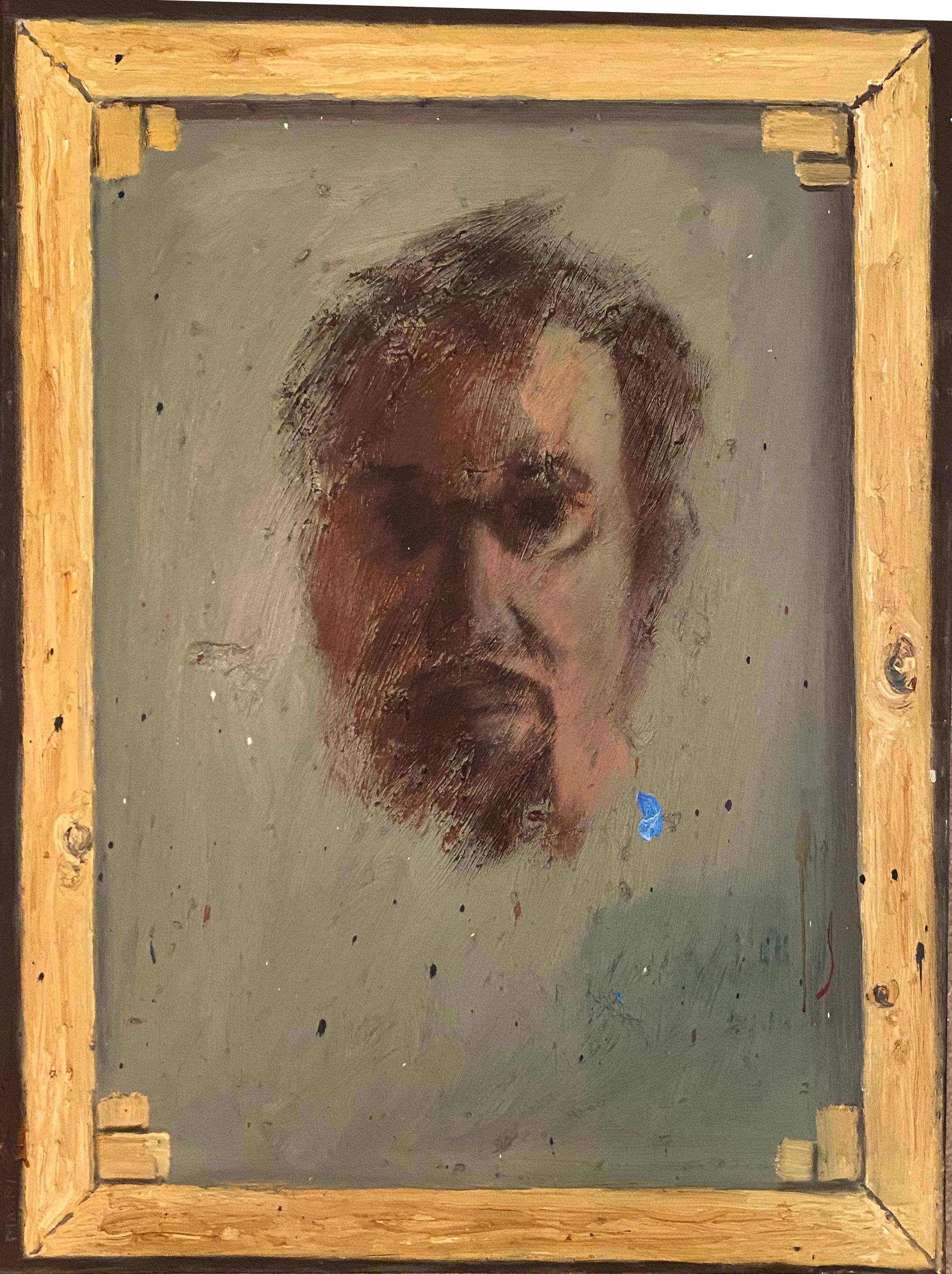"""""""Self portrait inside brown frame"""""""