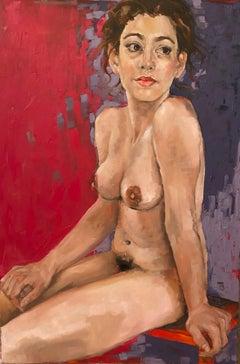 """Seated Nude"" oil on canvas by Shana Wilson"