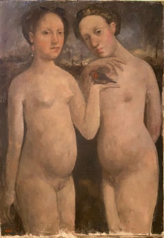 """""""Young women with a bird"""""""