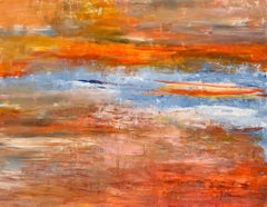 """""""Golden Gate Sunrise"""" Acrylic On Canvas Abstract Masterpiece By Gail"""