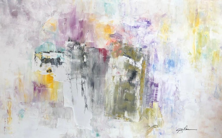 """""""Gail energizes her canvases with great luminosity and sophistication.""""  Peter Elliot, Collector  Gail  - 'Dancing To The Colors', acrylic on canvas.  Original, one of a kind piece. Contemporary Fine Art.  MORE ABOUT GAIL: Gail lives and works in"""