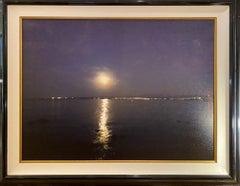 """The Moon"" Acrylic paint & Photography on Canvas"
