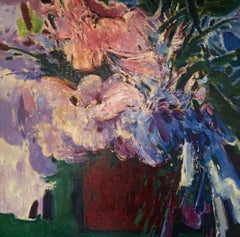 """Purple Vase"" oil on canvas by Ming Ming"