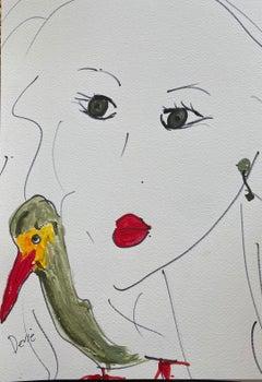 Red Beak Red Lips