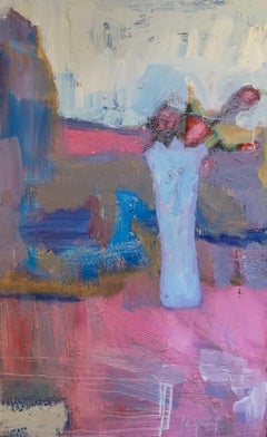 Composition in blue and pink