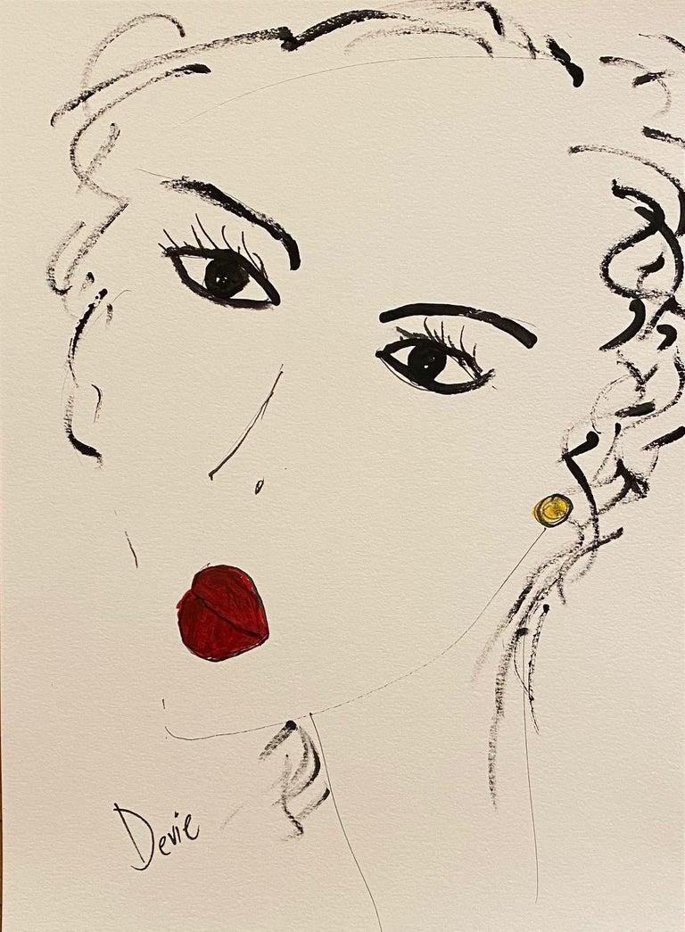"""Devie Elzafon Portrait - """"Femme fatale"""" by Devie"""