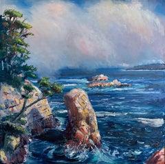 """Big Sur"" seascape oil on canvas by Mike"