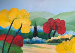 """""""Fall colors in Provence"""" oil on canvas by Payet"""