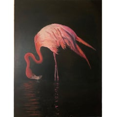"""""""Pink Flamengo"""" oil on canvas"""