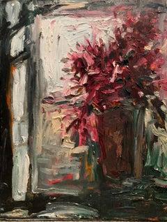 """""""Purple Flowers"""" oil on canvas"""