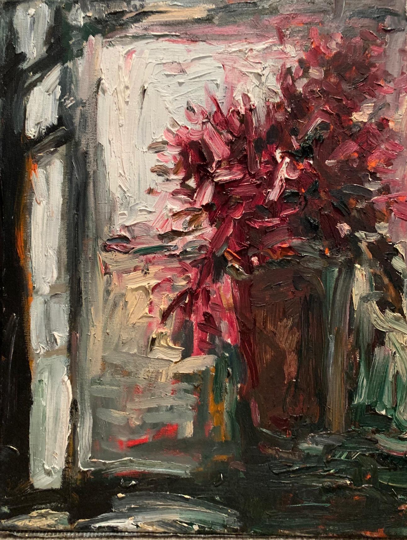 """Purple Flowers"" oil on canvas by Duan"