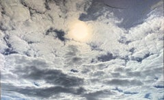 """""""Clouds"""" Photography and Acrylic on Canvas"""