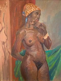 """African Woman"" oil on canvas 31""x37"" framed by Bernard Krigstein"