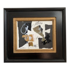 Collage Art in Vintage Frame