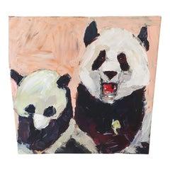 Panda Painting Zoo Atlanta Signed Original