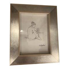 Nude Drawing on Vellum