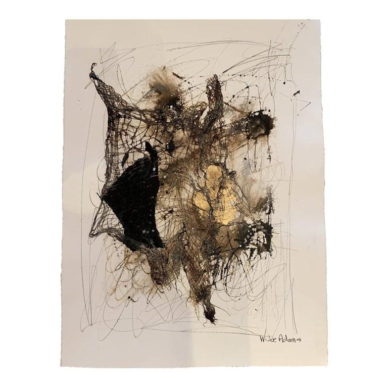 Joe Adams Abstract Painting - Mixed Media on Paper