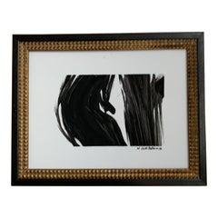 Vintage Framed Signed Abstract