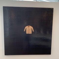 Encaustic Wax Layered 1996 Floating Jacket by Tony Hernandez