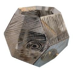 Tom Dixon Faux Bois Steel Sculpture Votive