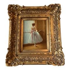 20th Century European Ballerina Oil