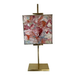 Oil Painting on Gold Brass Easel