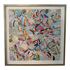Original Framed Abstract on Italian Paper