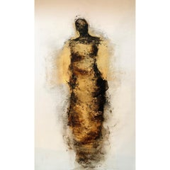 Figure with Gold Leaf by Tracy Sharp