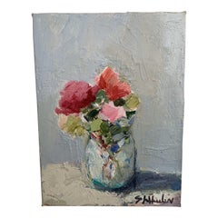 Mini Floral Oil Painting by S Wheeler