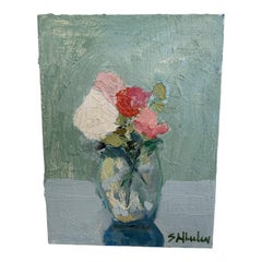 Mini Floral Oil Paintings by S Wheeler