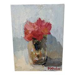 Mini Floral Oil Paintings by Stephanie Wheeler