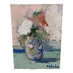 Mini Floral Oil Painting by Stephanie Wheeler