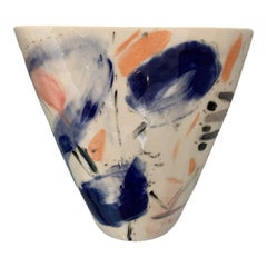 Studio Pottery Abstract Vase by S Wheeler