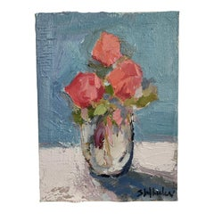 Mini Floral Oil Painting on Canvas