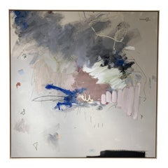 Abstract Painting in Floating Frame by Hayden Alexander