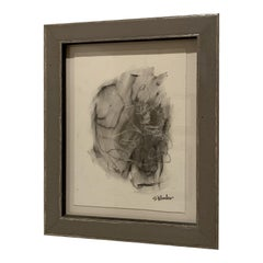 Grey Framed Charcoal